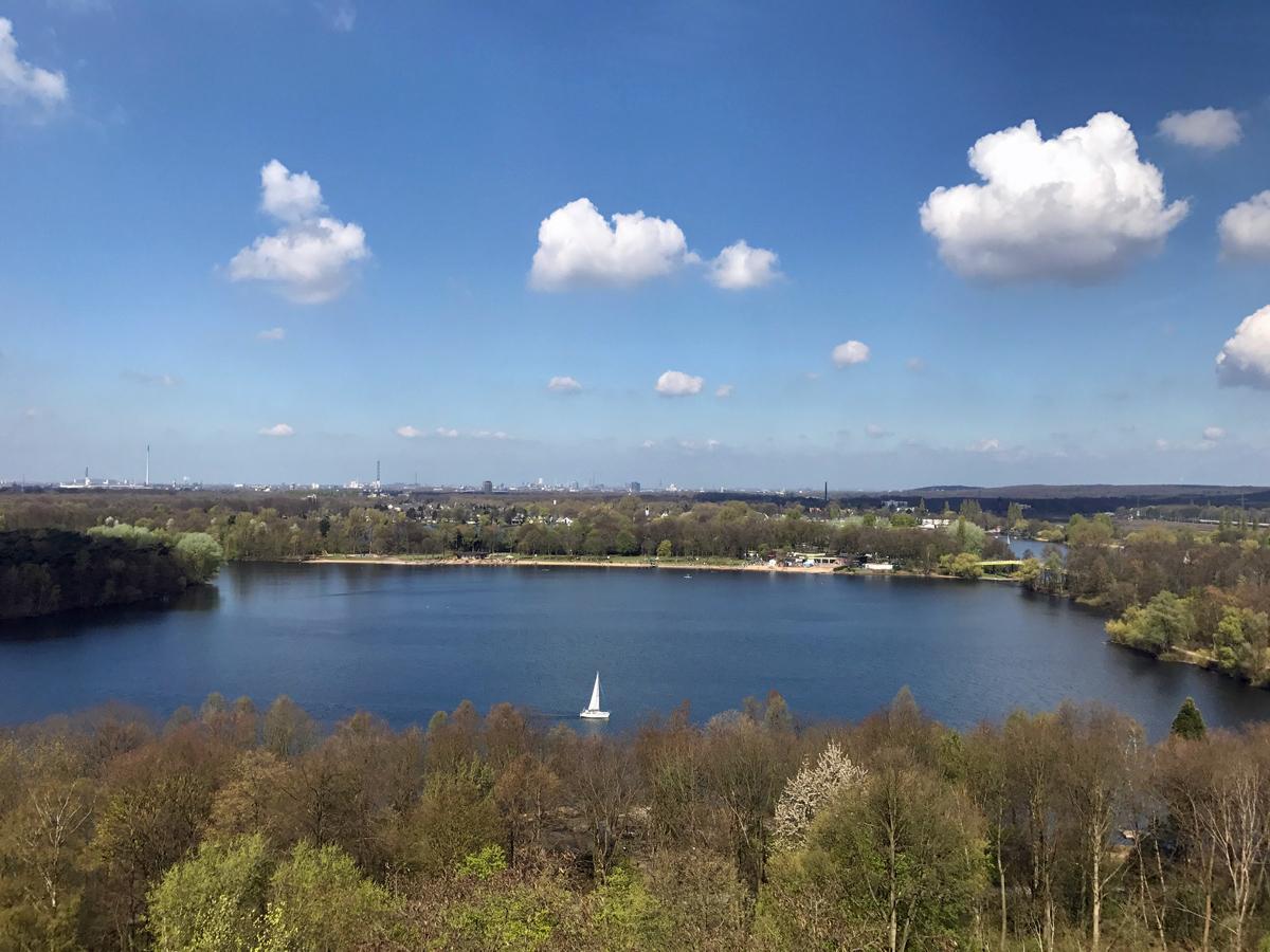 Aussicht auf die Sechs Seen Platte in Duisburg