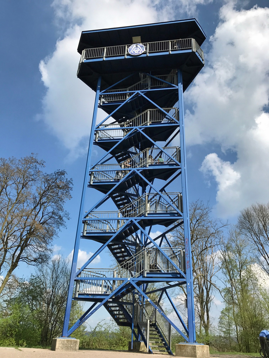 Aussichtsturm an der Sechs Seen Platte in Duisburg
