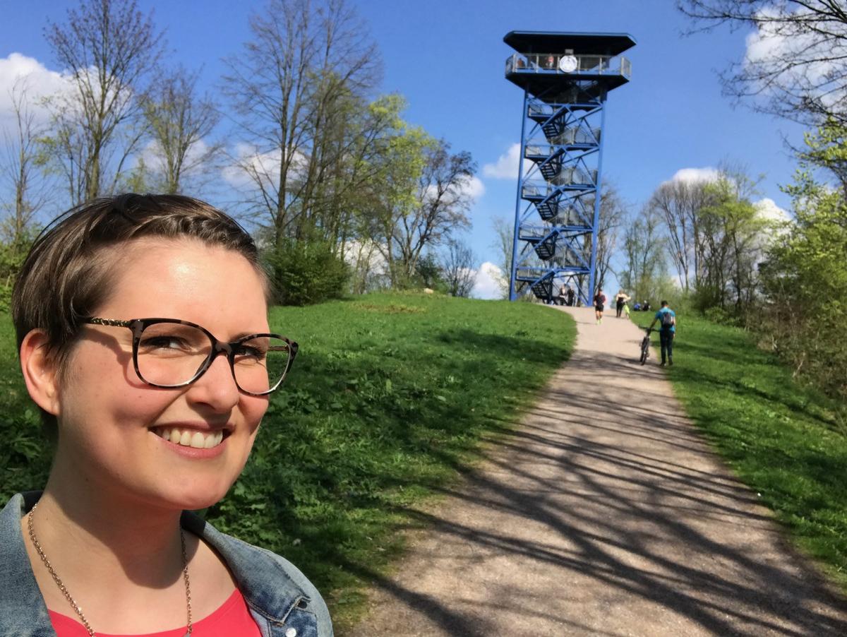 Der Aussichtsturm an der Sechs Seen Platte in Duisburg