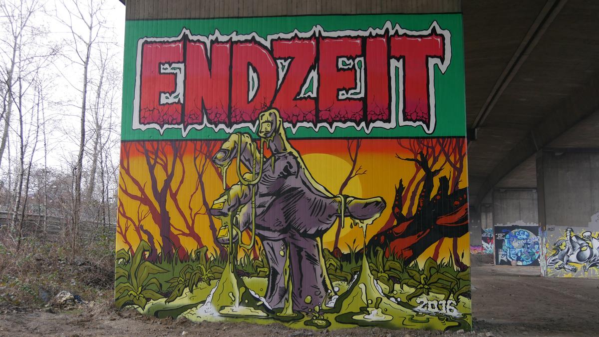Graffiti unter der A42