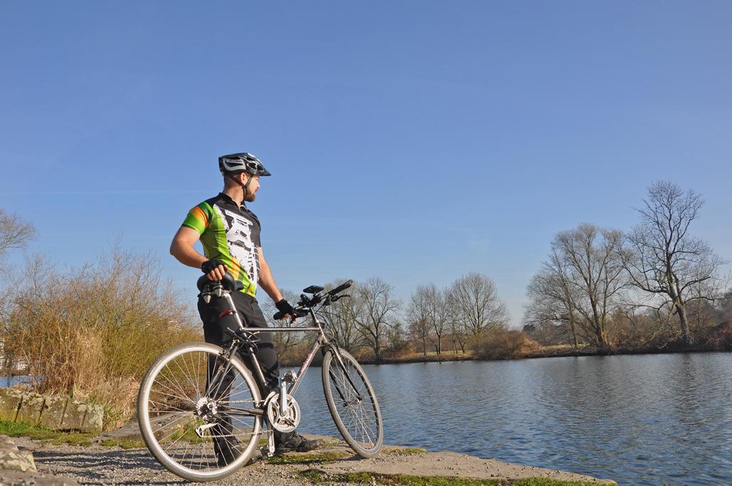 Radfahren direkt an der Ruhr