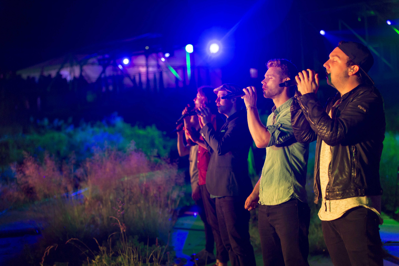 Das Foto zeigt verschiedene Sänger bei der ExtraSchicht im Berne Park in Bottrop