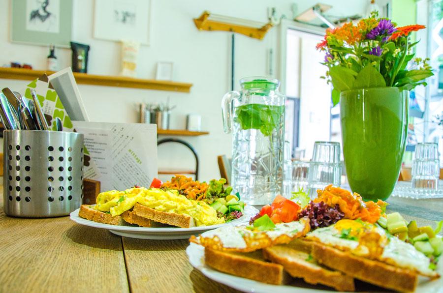Das Foto zeigt das Essen in der Butterbrotbar in Bochum