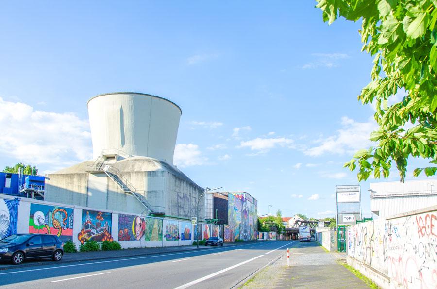 Das Foto zeigt Street Art auf der Weißenburger Straße in Dortmund