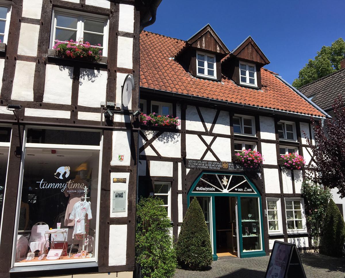 Fachwerkhäuser in der Altstadt Recklinghausens
