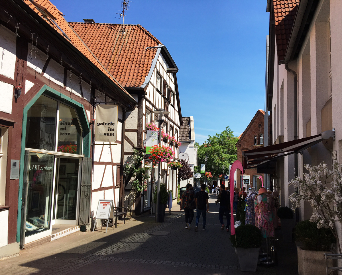 Fachwerkfassade in der Altstadt von Recklinghausen