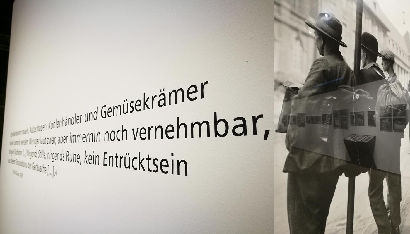 Das Foto zeigt einige Zitate von Erich Grisar, dem Fotografen der Ausstellung Ruhrgebietsfotografen, in der Zeche Zollern Dortmund