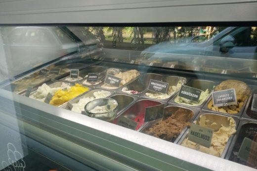Das Foto zeigt die Eis Auswahl bei i am love in Bochum