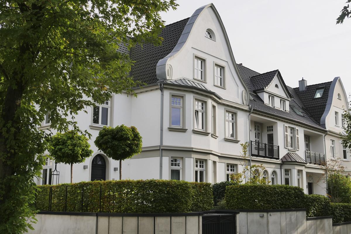 Das Foto zeigt Wohnhäuser in Essen-Werden