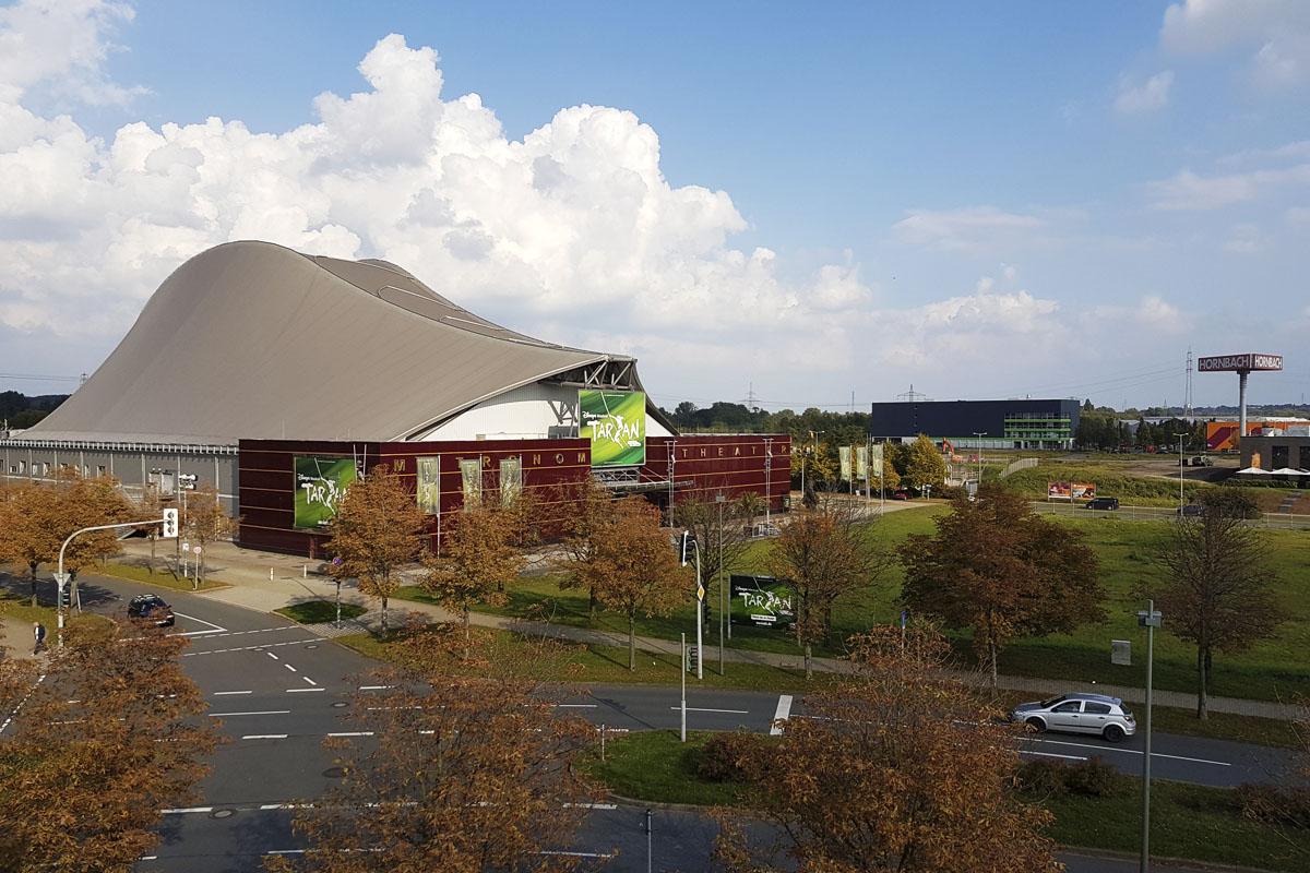 Das Foto zeigt das Stage Metronom Theater in Oberhausen