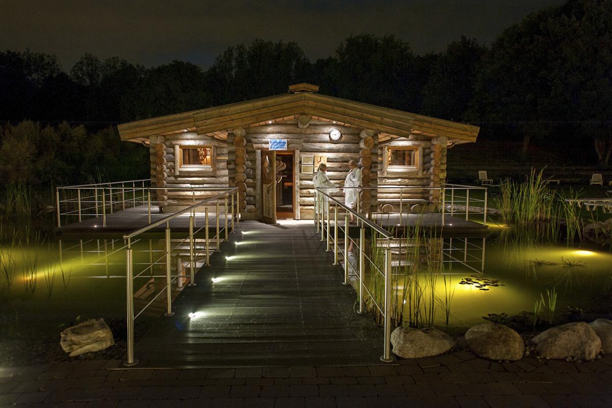 Das Foto zeigt eine Sauna des Solebad Vonderort in Oberhausen