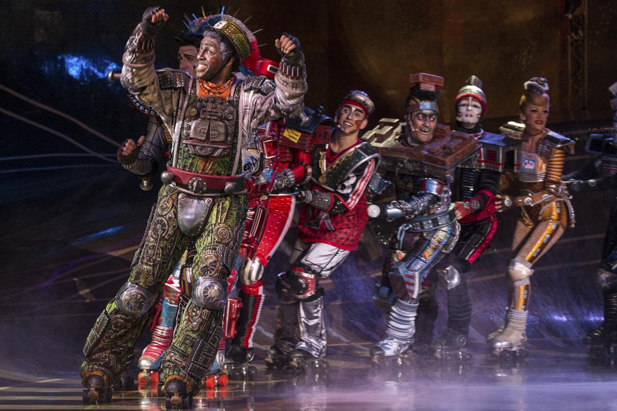 Das Foto zeigt einige Darsteller des Musicals Starlight Express in Bochum