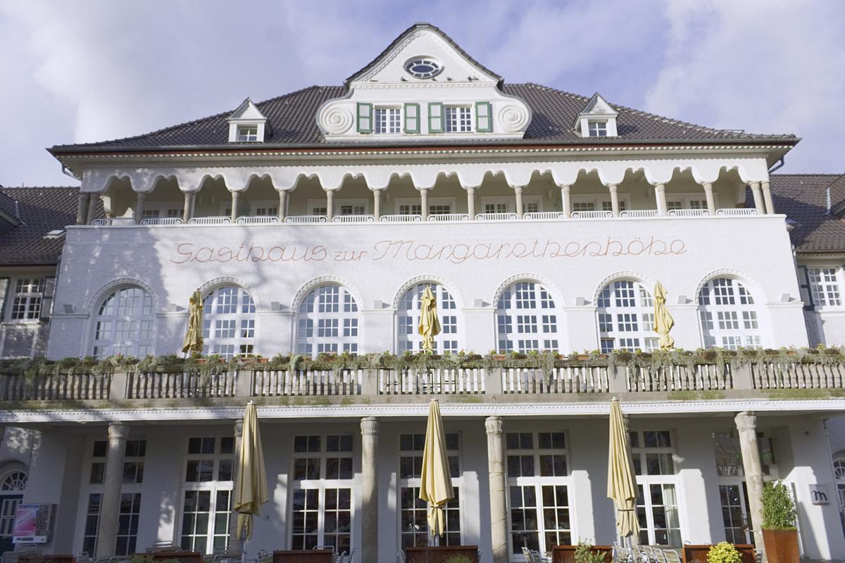 Das Foto zeigt das Mintrops Stadt Hotel Margerethenhöhe von außen