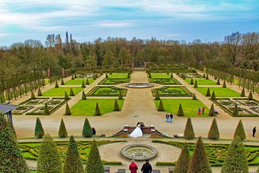 Das Foto zeigt den Klostergarten in Kamp-Lintfort