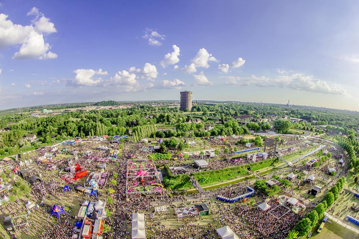 Das Foto zeigt das Gelände des Ruhr in Love Festivals