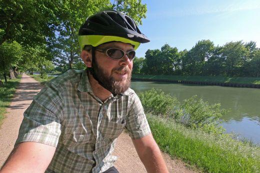 Das Foto zeigt Jochen am Wesel-Dattel-Kanal