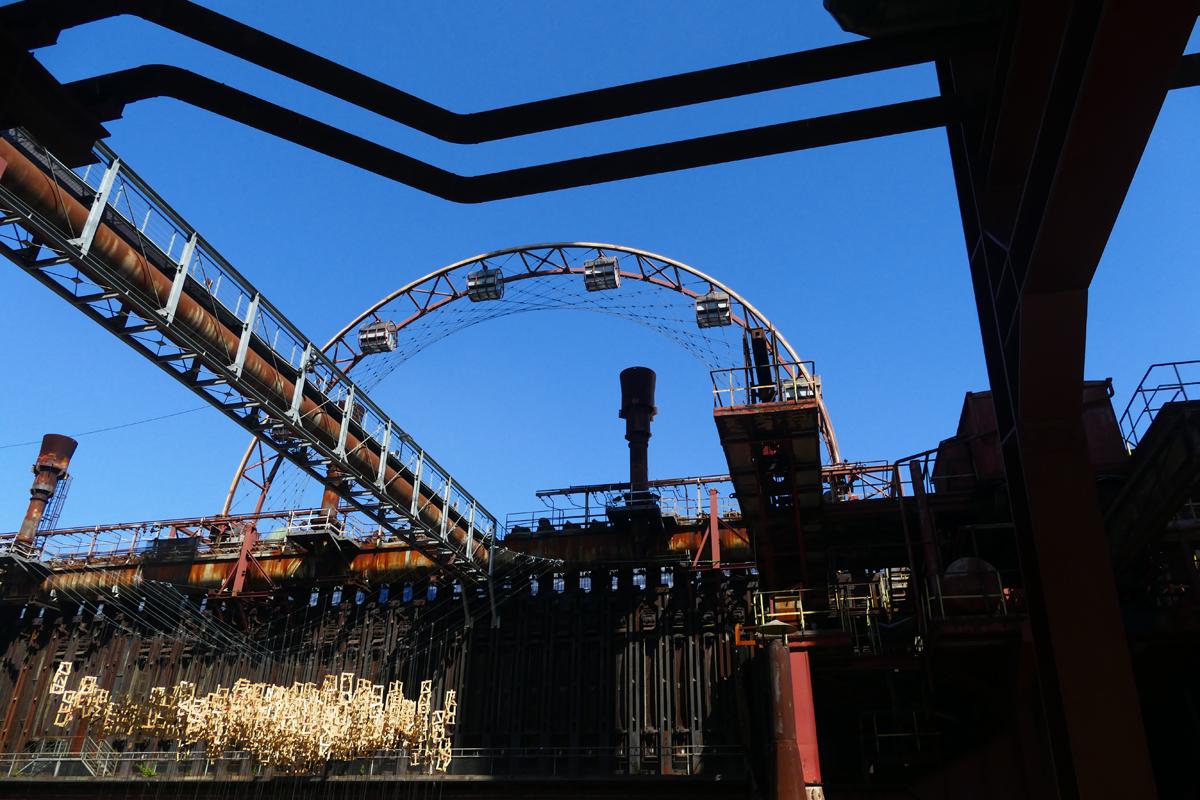 Das Bild zeigt das Sonnenrad auf der Kokerei Zollverein