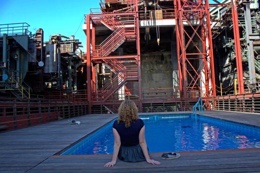 Das Bild zeigt das Werkschwimmbad des UNESCO-Welterbe Zollverein