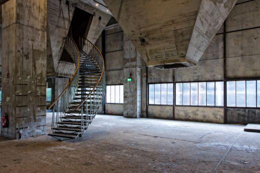 Das Foto zeigt das Geländer der ehemaligen Kokerei des UNESCO-Welterbe Zollverein