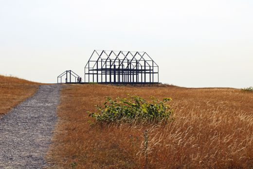 Das Bild zeigt das Hallenhaus auf der Halde Norddeutschland.