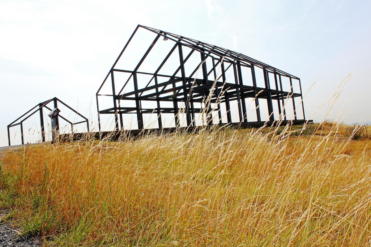 Das Bild zeigt das Hallenhaus auf der Halde Norddeutschland