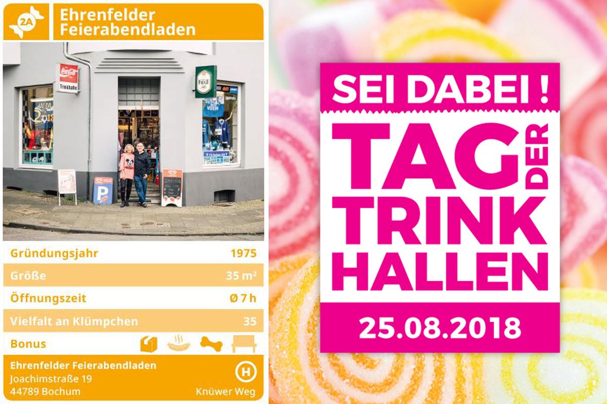 Das Foto zeigt ein Werbeposter zum Tag der Trinkhallen.
