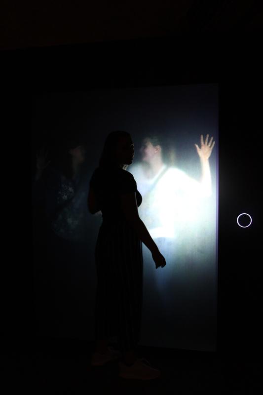 Das Bild zeigt das Selbstbildnis im Zentrum für internationale Lichtkunst.