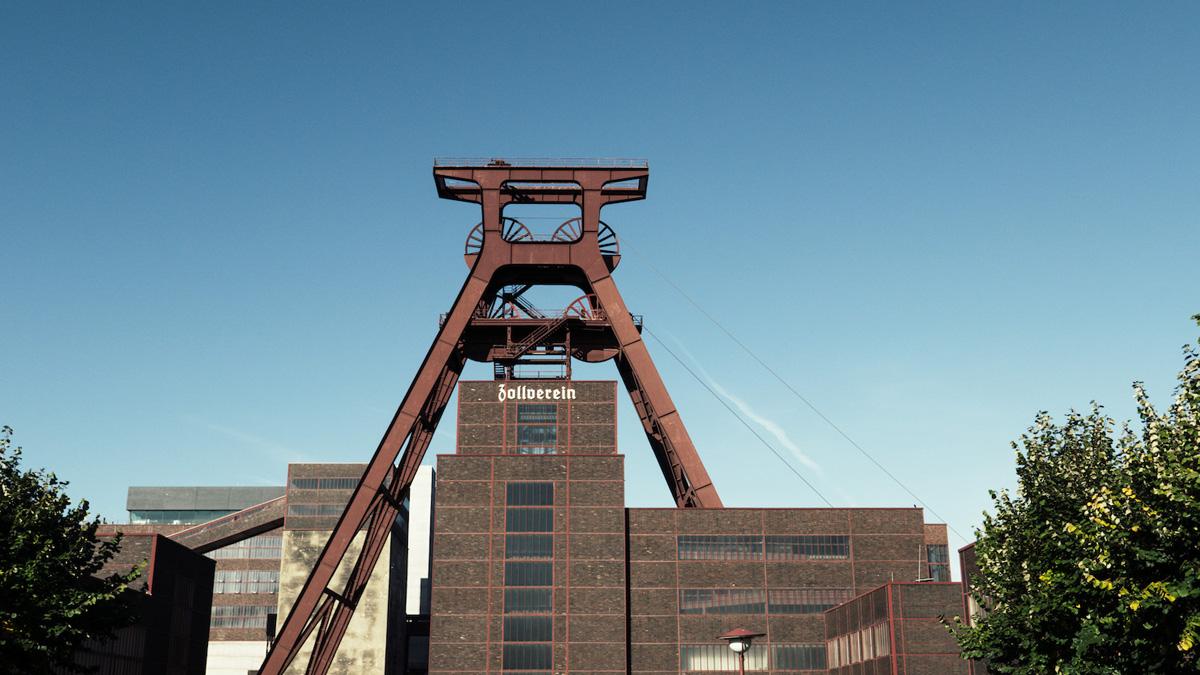 Das Bild zeigt den Doppelbock des UNESCO-Welterbes Zollverein