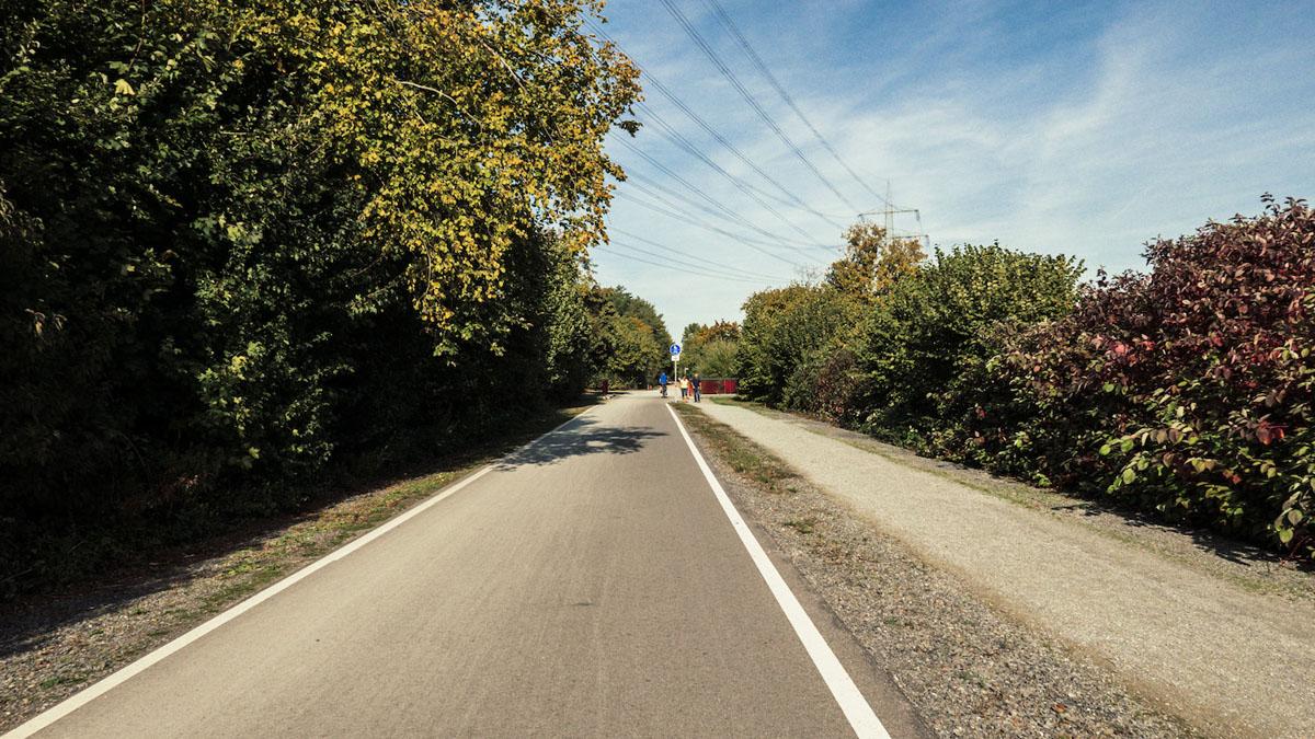 Das Bild zeigt den RS1-Radschnellweg Ruhr