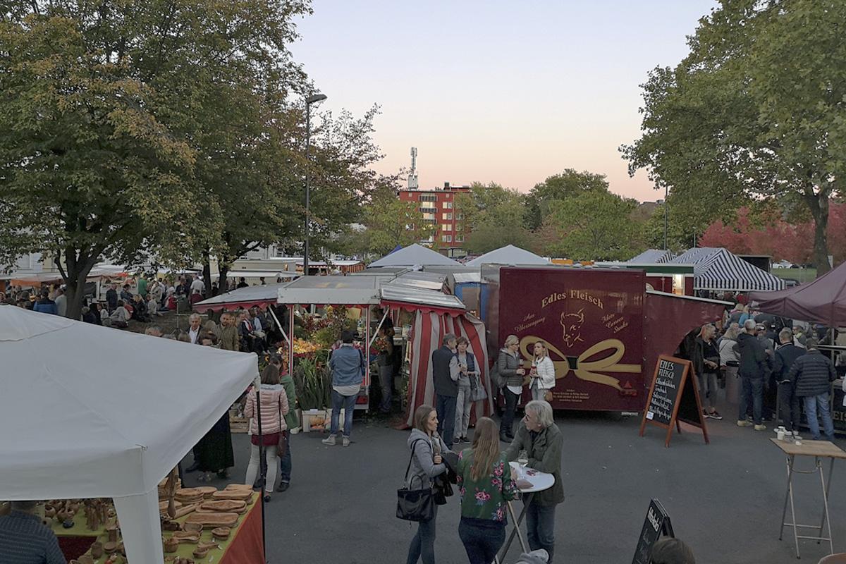 Das Foto zeigt den Moltkemarkt in Bochum