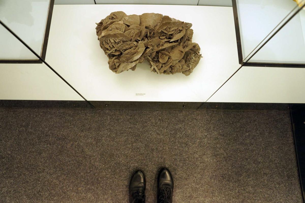 Das Bild zeigt ein Ausstellungsstück im Mineralien Museum in Essen
