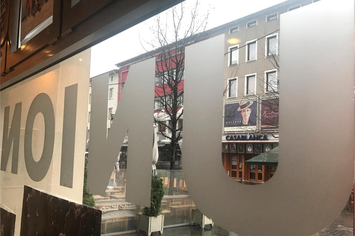 Das Bild zeigt den Ausblick aus dem Fenster des Kinos Union