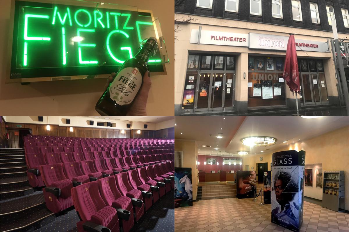Das Bild zeigt eine Collage mit Bildern der Einrichtung des Union Filmtheaters