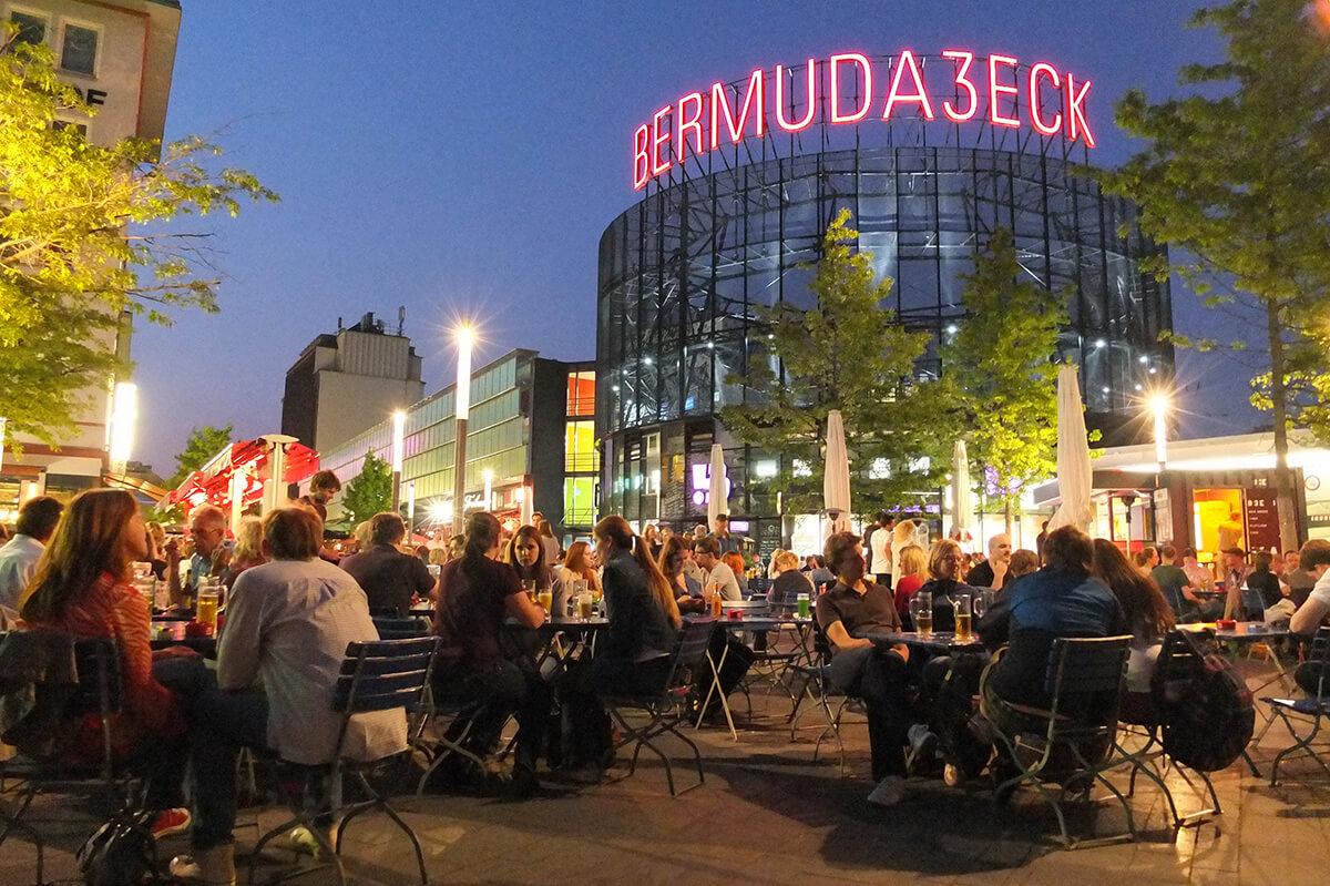 Das Foto zeigt das Bermude3Eck in Bochum