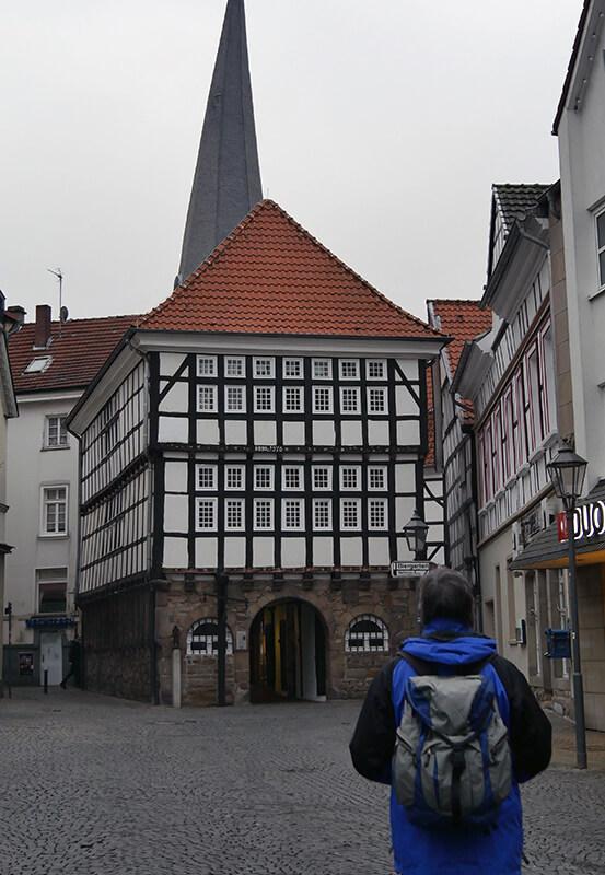 Das Foto zeigt das Rathaus in der Altstadt von Hattingen