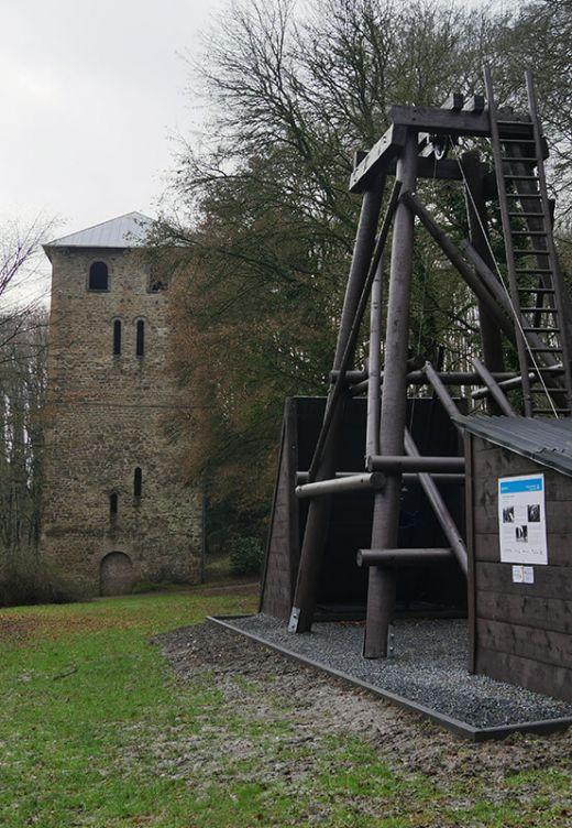 Das Foto zeigt Bergbauüberbleibsel in Bochum