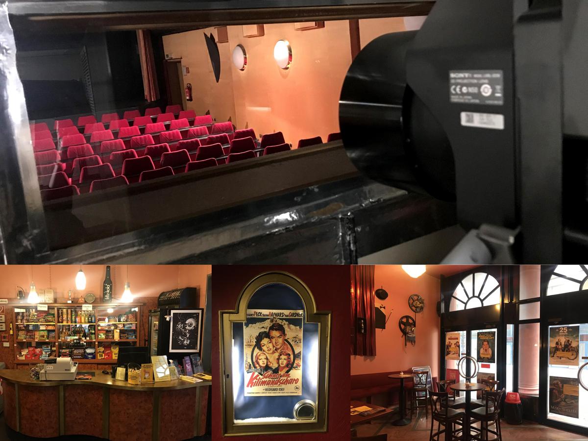 Das Bild zeigt eine Collage von verschiedenen Räumen der Schauburg
