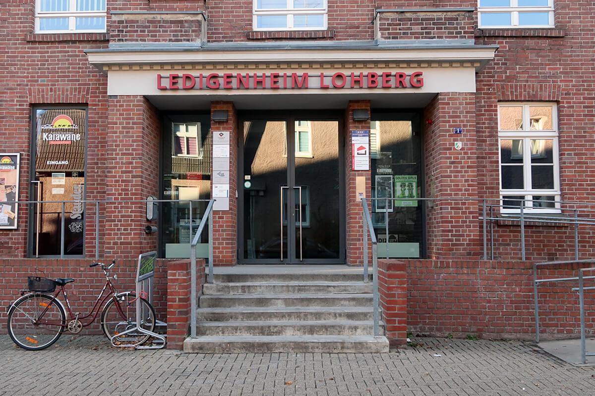 Das Foto zeigt das Ledigenheim in Dinslaken Lohberg