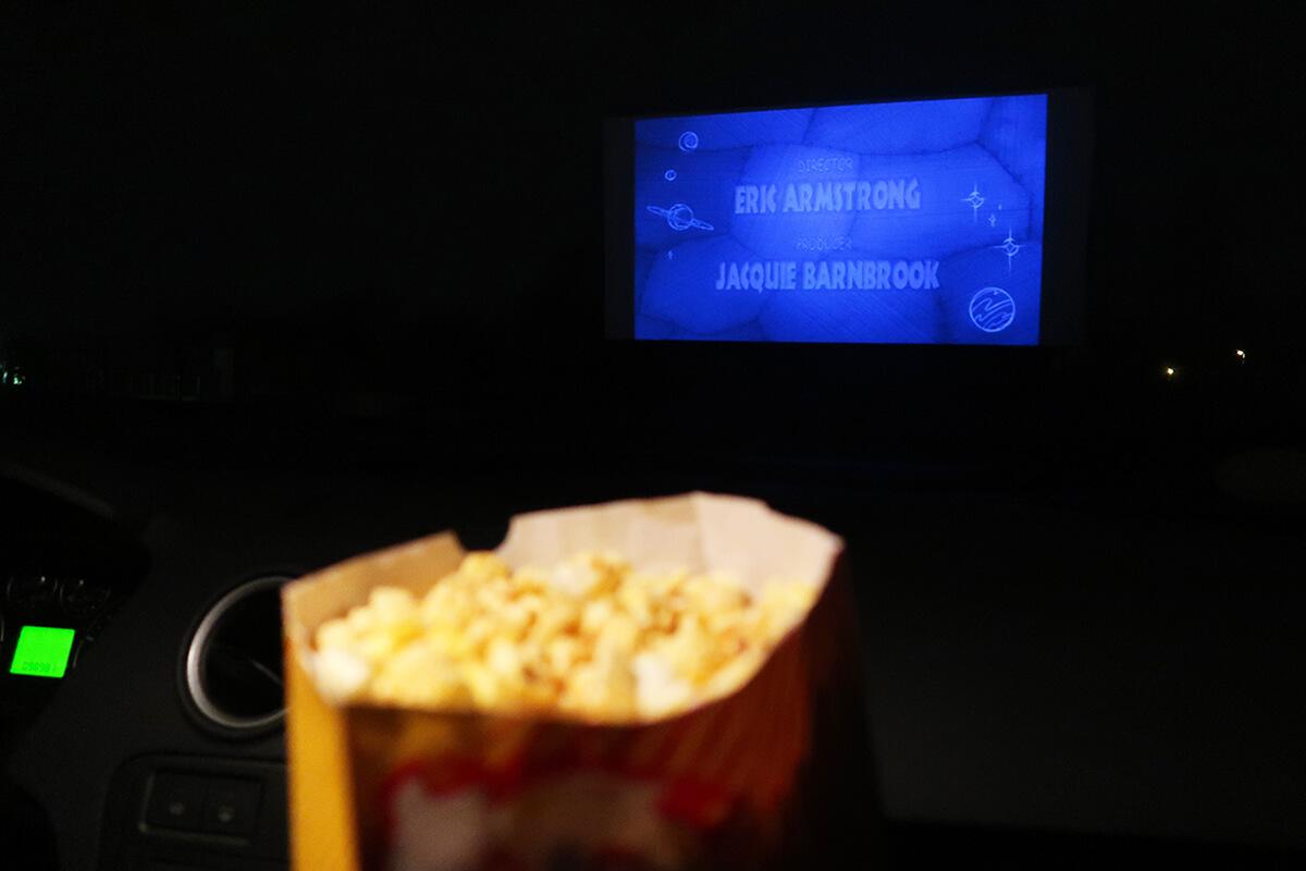 Das Foto zeigt Popcorn im Autokino Essen