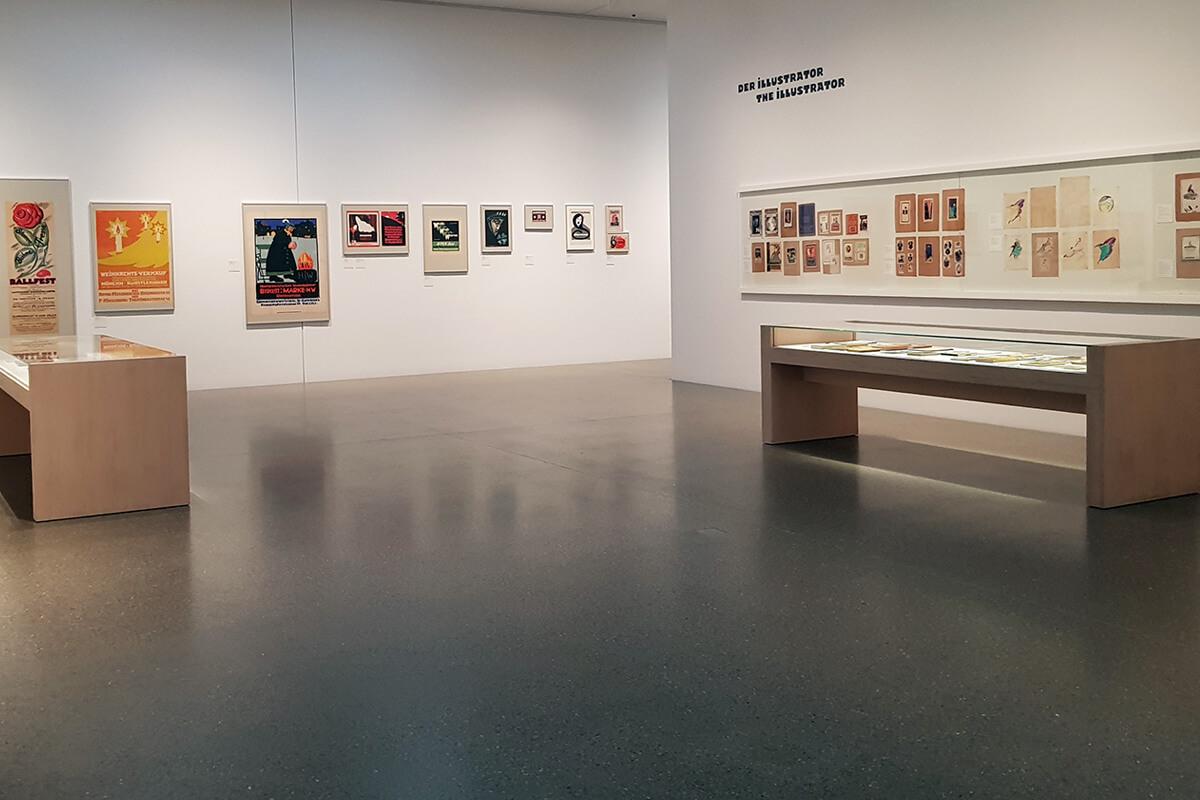 Das Foto Kunstwerke Pirchans im Museum Folkwang in Essen