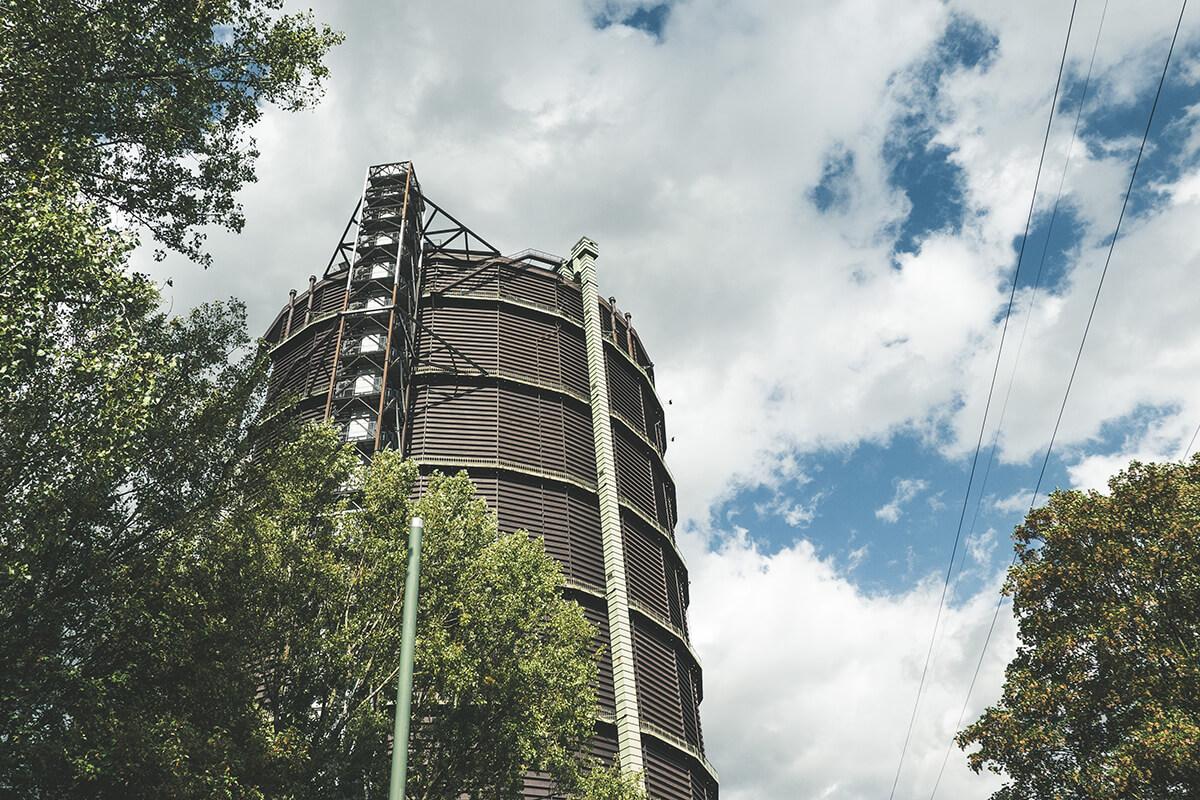 Das Foto zeigt den Gasometer Oberhausen