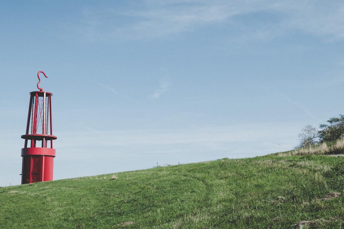 Das Foto zeigt die Halde Rheinpreußen in Moers