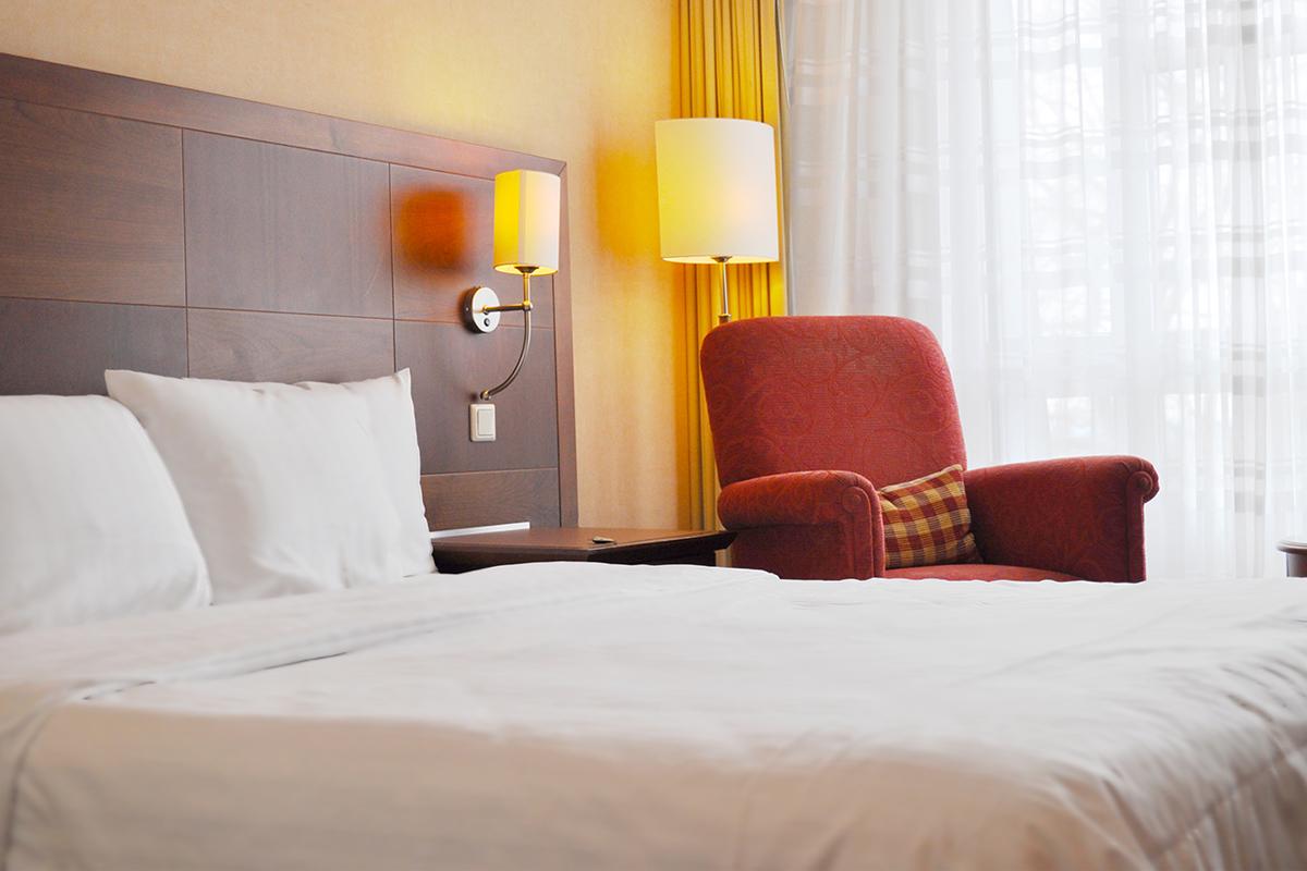 Das Foto zeigt ein Deluxe Zimmer im Hotel Courtyard by Marriott Bochum Stadtpark