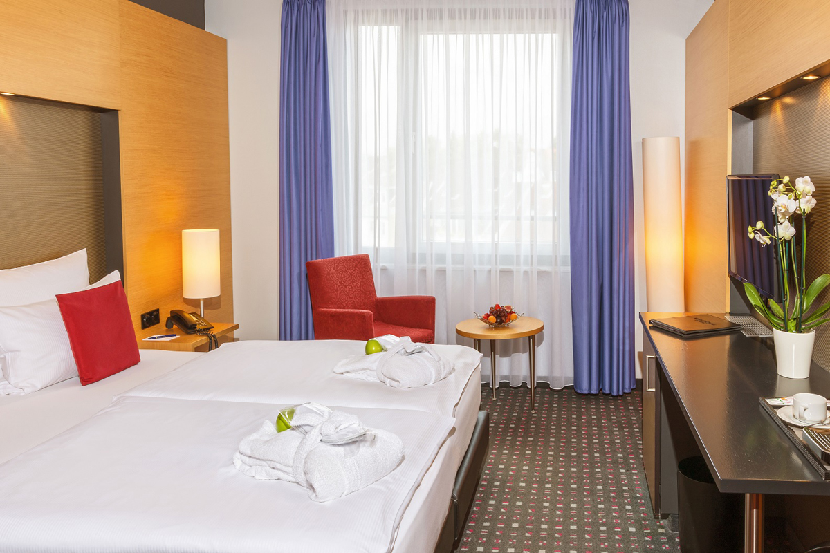 Das Bild zeigt ein Zimmer im Welcome Hotel Essen