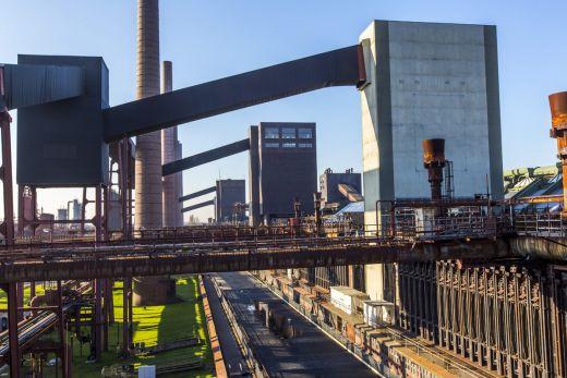 Das Bild zeigt den Blick auf das Gelände des UNESCO-Welterbe Zollverein