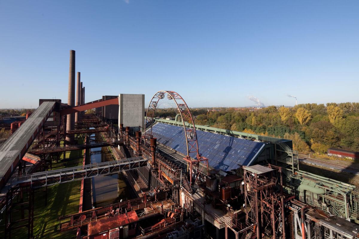 Das Bild zeigt den Blick auf die Kokerei Zollverein