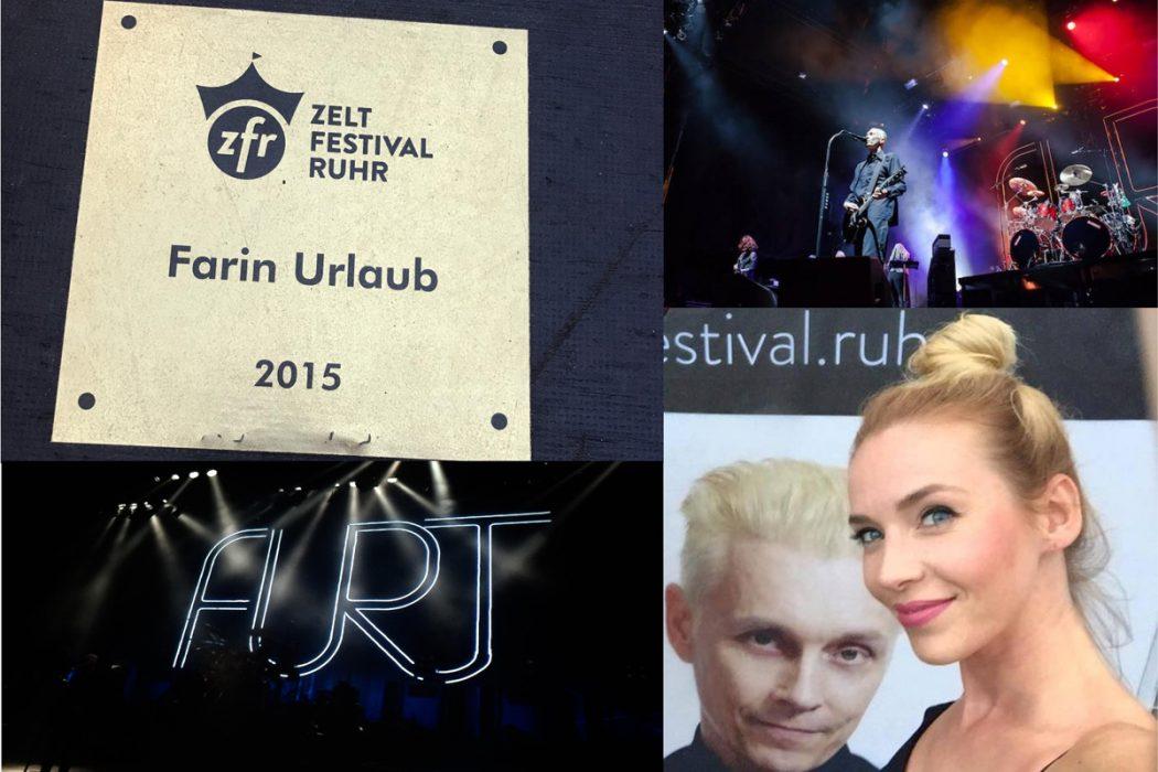 Das Bild zeigt Farin Urlaub auf dem Zeltfestival Ruhr 2015