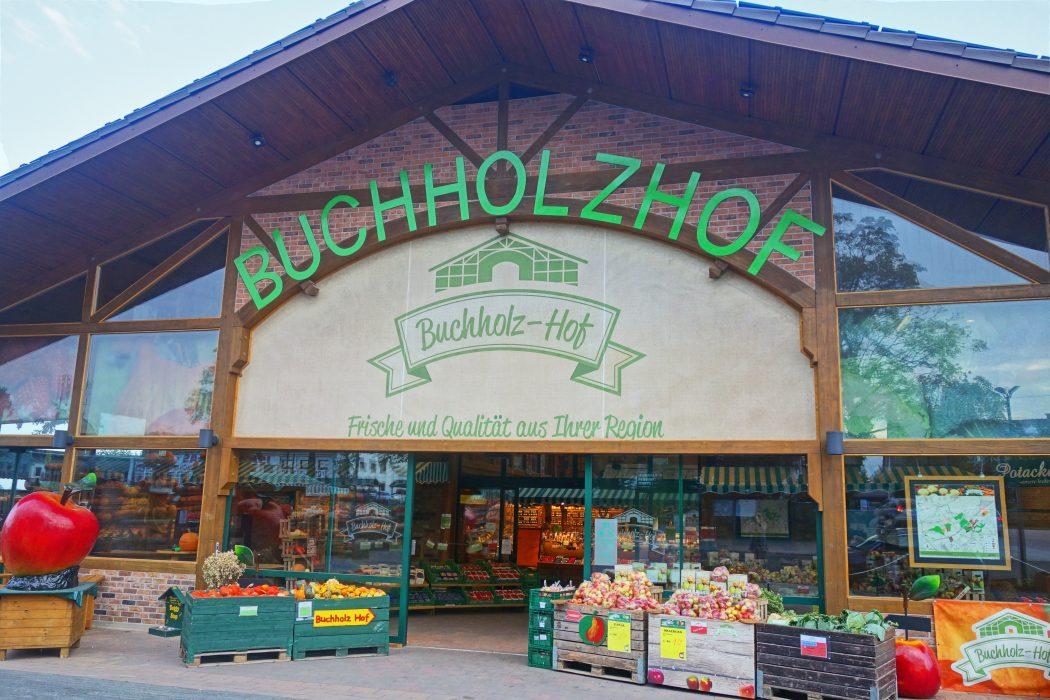 Das Bild zeigt den Hofladen des Buchholzhofes