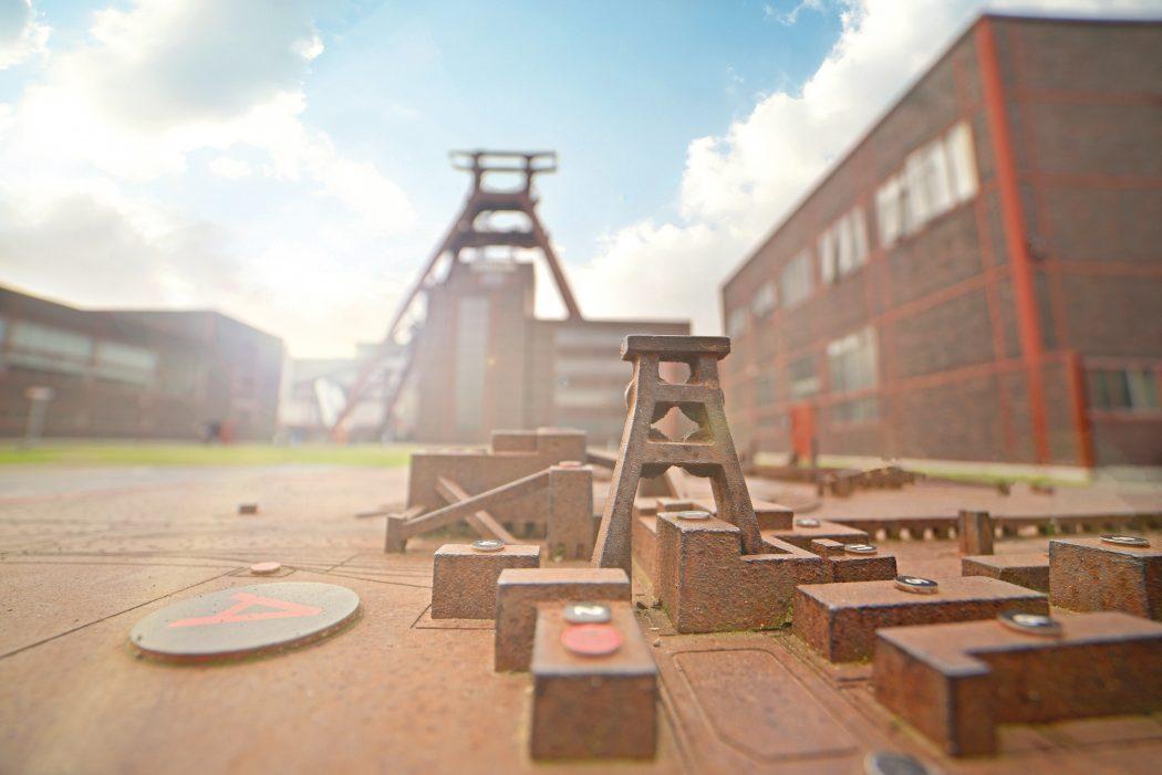 Das Foto zeigt das Miniaturmodel der Zeche Zollverein