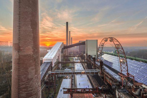 Das Foto zeigt die Eisbahn auf Zollverein.